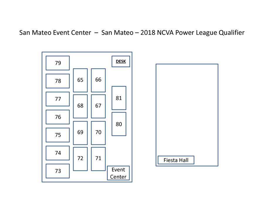 Court Map - San Mateo Event Center